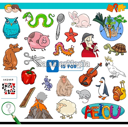 v is for educational game for