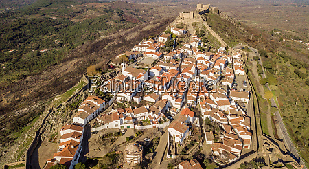aerial view of the village marvao