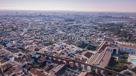 aerial view of the city evora