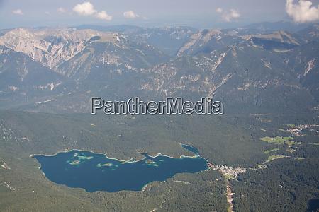 lake eib at the zugspitze bavaria