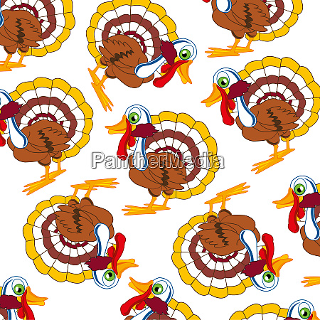 cartoon of the bird turkey decorative