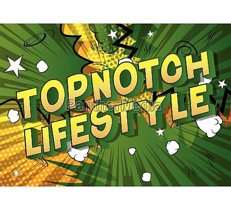 topnotch lifestyle comic book style