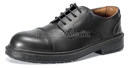 black leather shoe