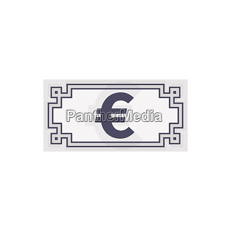 euro banknote icon currency symbol