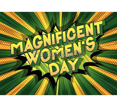 magnificent womens day comic book