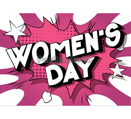 womens day comic book style