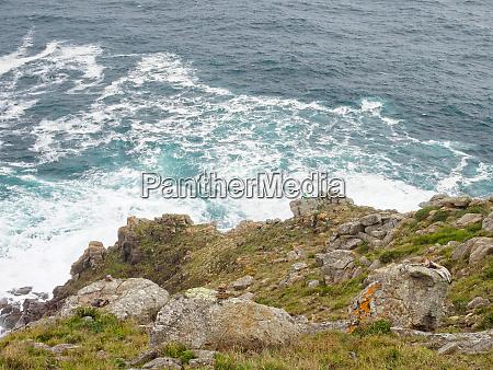 crashing waves cape finisterre