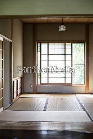interior of traditional japanese house with