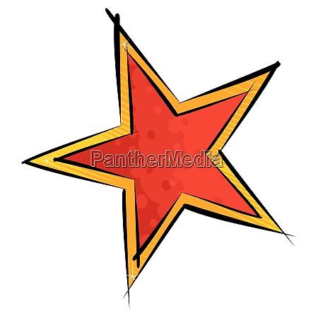 red and orange star illustration