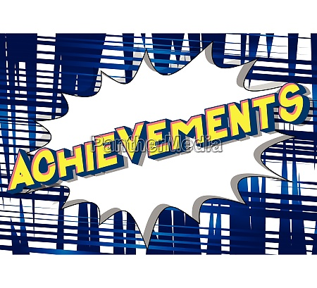 achievements comic book style words
