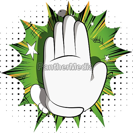 cartoon hand showing deny or refuse