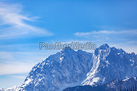tirolean alps in the winter