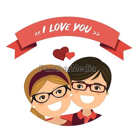 valentine day couple in love boy