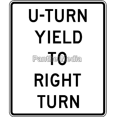 u turn yield to right turn