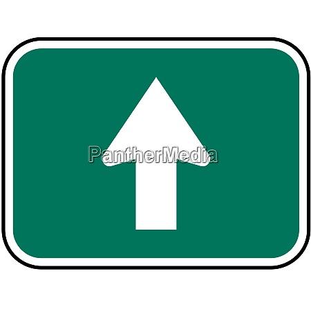 directional arrow straight
