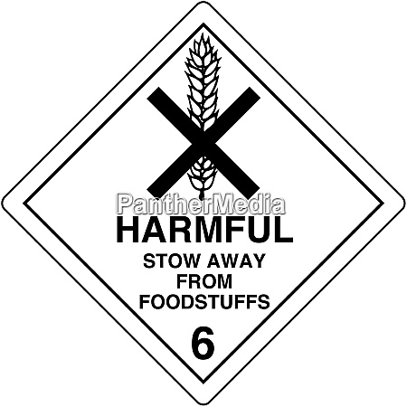 harmful stow away from foodstuffs