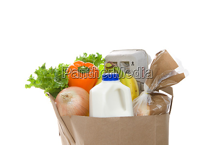 brown eco friendly grocery bag with