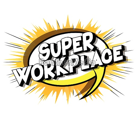 super workplace comic book style