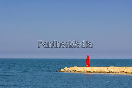 red lighthouse of trani puglia