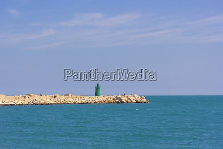 green lighthouse of trani puglia