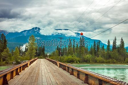 bridge over the kicking horse river