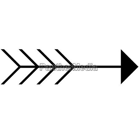 freccia con coda
