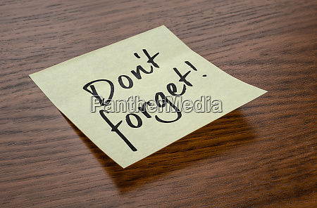 sticky note with the text do