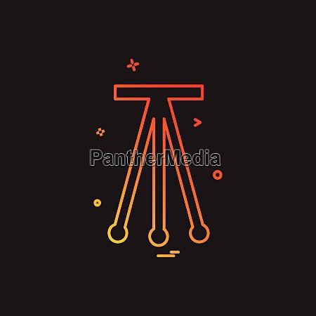 tripod icon design vector