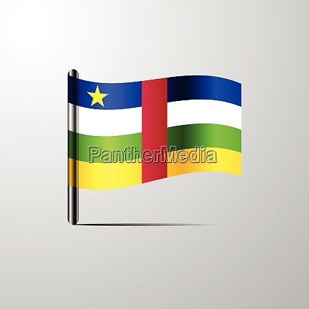 central african republic waving shiny flag