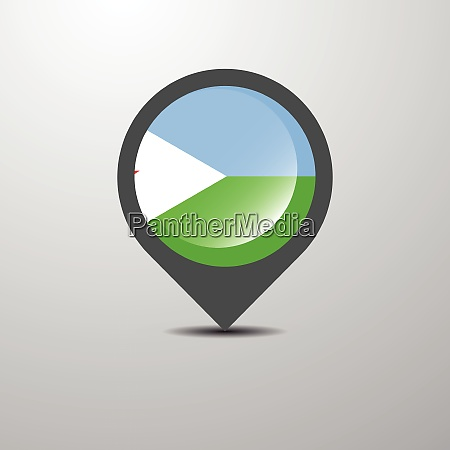 djibouti map pin