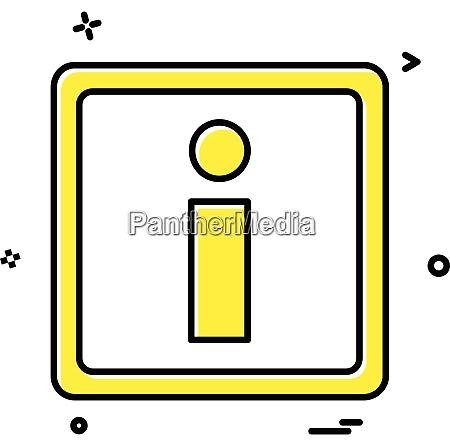 information icon vector design