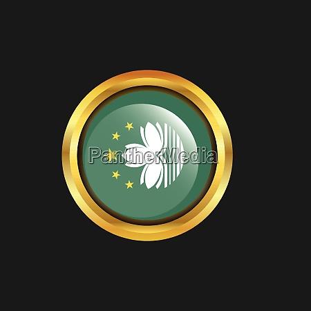 macau flag golden button