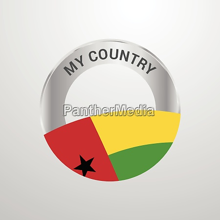 guinea bissau my country flag badge