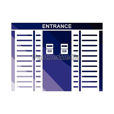 stadium entrance turnstile icon stadium entrance