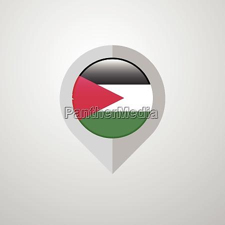 map navigation pointer with jordan flag