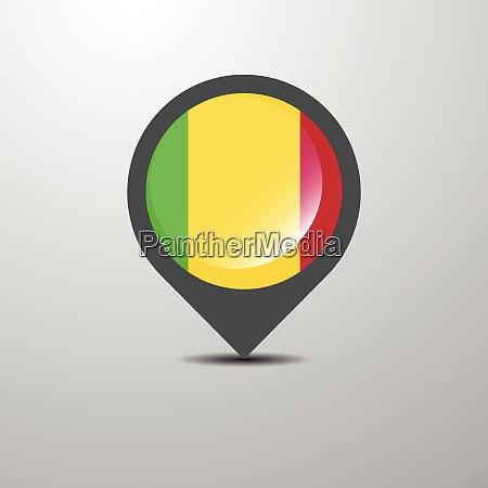 mali map pin