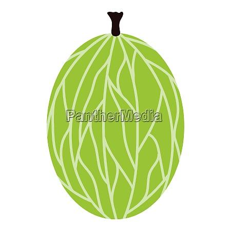 flat design icon of gooseberry in