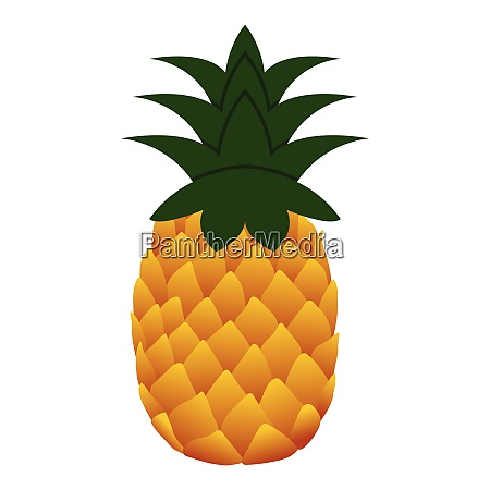 flat design icon of pineapple in