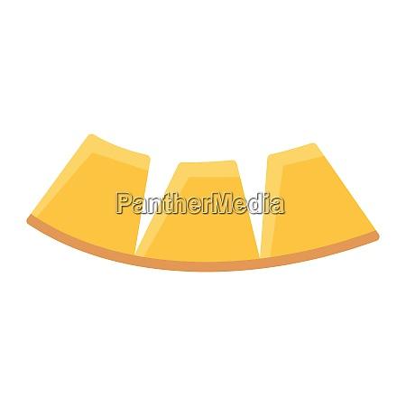 flat design icon of melon in