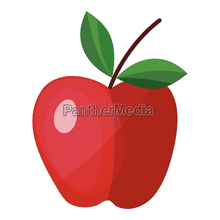 flat design icon of apple in