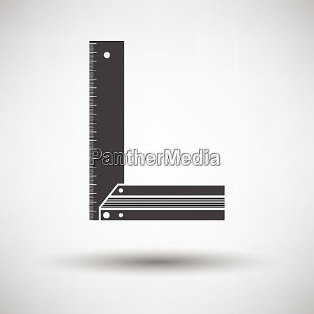 setsquare icon setsquare icon on gray
