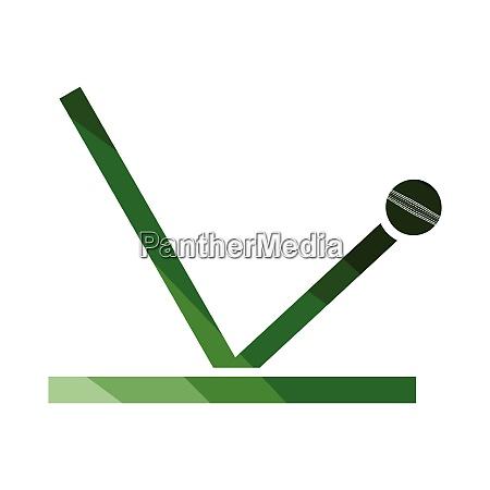 cricket ball trajectory icon cricket ball
