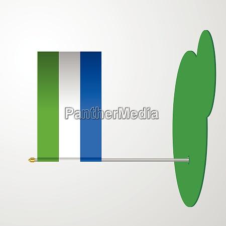 sierra leone flag pole