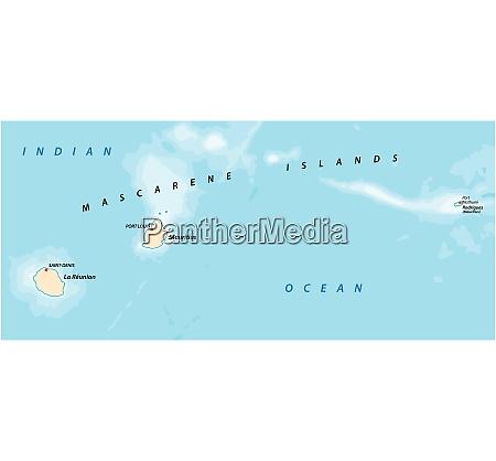 vector map of the mascarene islands