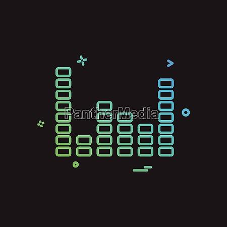 bar graph icon design vector