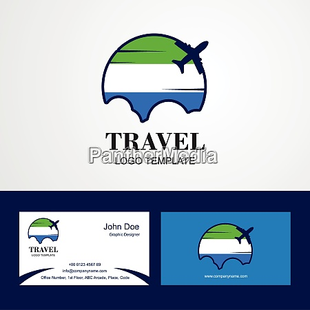travel sierra leone flag logo and