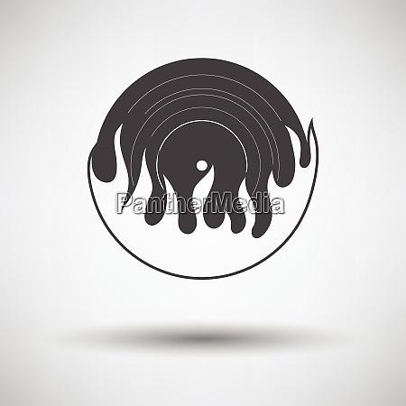 flame vinyl icon flame vinyl icon
