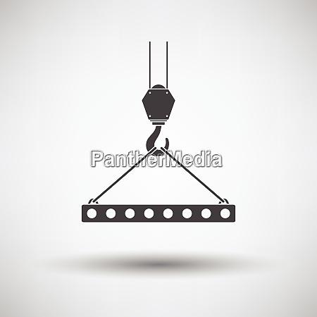 icon of slab hanged on crane