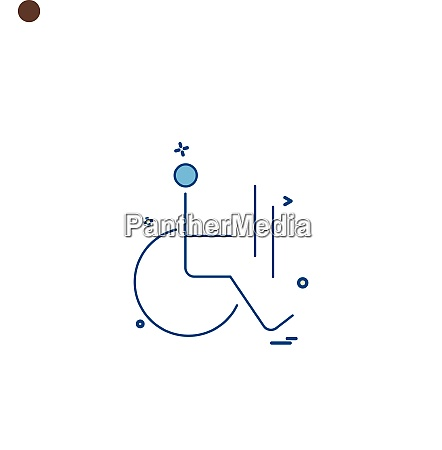 handicap icon design vector