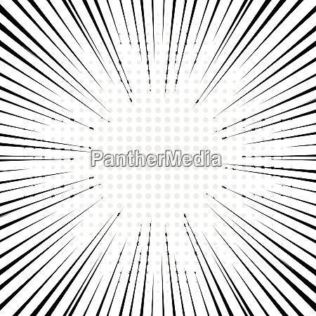 black radial lines with gray halftone